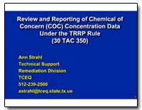 Review and Reporting of Chemical of Conc... by Strahl, Ann