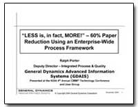 Less Is, In Fact, More! : 60% Paper Redu... by Porter, Ralph