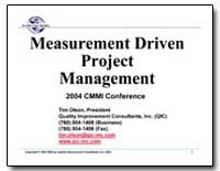 Measurement Driven Project Management by Olson, Tim