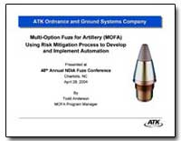 Company Multi-Option Fuze for Artillery ... by Anderson, Todd