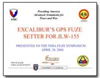 Excalibur's Gps Fuze Setter for Jlw-155 by Walker, Tommy L.