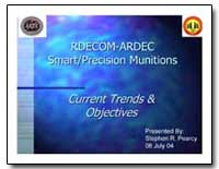 Rdecom-Ardec Smart Precision Munitions by Pearcy, Stephen R.