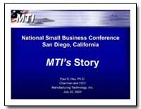 Mtis Story by Hsu, Paul S., Ph. D.