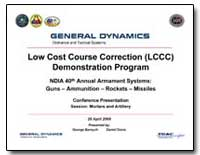 Low Cost Course Correction (Lccc) Demons... by Department of Defense