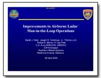 Improvements to Airborne Ladar Man-In-Th... by Hard, Sarah J.