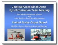 Joint Services Small Arms Synchronizatio... by Department of Defense