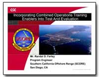 Incorporating Combined Operations Traini... by Farley, Randal D.