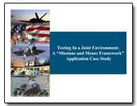 Testing in a Joint Environment: A Missio... by Department of Defense