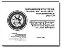 Performance Monitoring, Training and Ass... by Davis, William O.