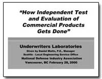 How Independent Test and Evaluation of C... by Department of Defense