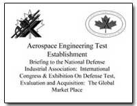 Aerospace Engineering Test Establishment by Department of Defense