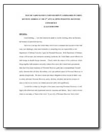 Text of Vadm Mayers (Usjfcom Deputy Comm... by Department of Defense