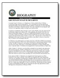 Biography : Lieutenant Susan M. Mcgarvey by Department of Defense