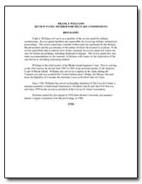 Frank J. Williams Review Panel Member fo... by Department of Defense