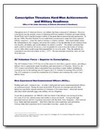 Conscription Threatens Hard-Won Achievem... by Department of Defense