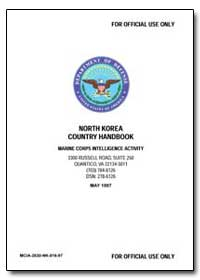 North Korea Country Handbook Marine Corp... by Department of Defense