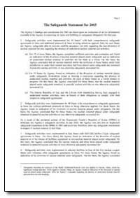 The Safeguards Statement for 2003 by Department of Defense