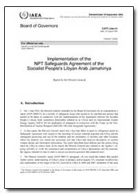 Implementation of the Npt Safeguards Agr... by Department of Defense