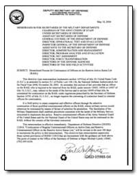 Streamlined Process for Continuation of ... by Department of Defense