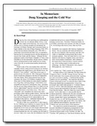 In Memoriam : Deng Xiaoping and the Cold... by Department of National Security
