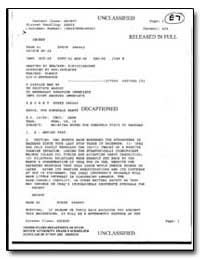 Subject : Briefing Notes for Rumsfeld Vi... by Department of National Security