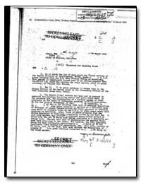 Secret/Release to Germany : Procedure fo... by Department of National Security