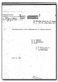 Recommendations on the Immediate Use of ... by Oppenheimer, J. R.