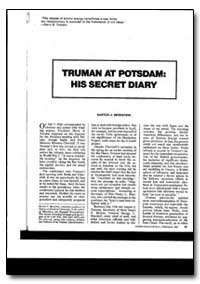 Truman at Potsdam : His Secret Diary by Bernsteln, Barton J.