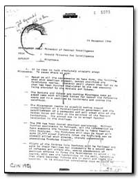 Memorandum for Director of Central Intel... by Department of National Security