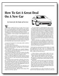 How to Get a Great Deal on a New Car by