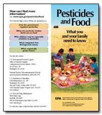 Pesticides and Food What You and Your Fa... by