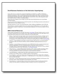 Small Business Assistance on the Informa... by Small Business Administration