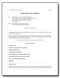 Inventory Management by Hedrick, Floyd D.