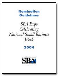 Nomination Guidelines Sba Expo Celebrati... by Barreto, Hector V.