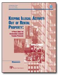 Keeping Illegal Activity Out of Rental P... by Gist, Nancy E.
