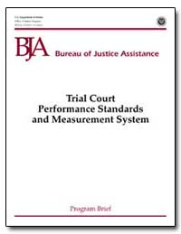 Trial Court Performance Standards and Me... by Gist, Nancy E.