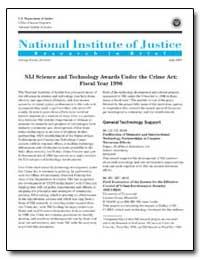 Nij Science and Technology Awards under ... by Travis, Jeremy