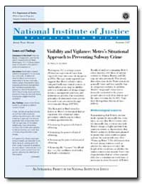 Visibility and Vigilance : Metros Situat... by Travis, Jeremy