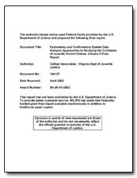 Exploratory and Confirmatory Spatial Dat... by Department of Justice