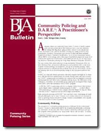 Community Policing and D. A. R. E : A Pr... by Carter, David L.