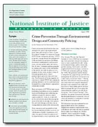 Crime Prevention through Environmental D... by Travis, Jeremy