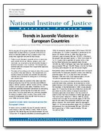 Trends in Juvenile Violence in European ... by Travis, Jeremy