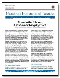 Crime in the Schools : A Problem-Solving... by Travis, Jeremy