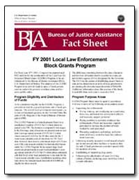 Fy 2001 Local Law Enforcement Block Gran... by Department of Justice