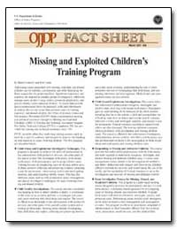 Missing and Exploited Children's Trainin... by Connelly, Helen N.