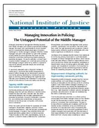 Managing Innovation in Policing : The Un... by Travis, Jeremy