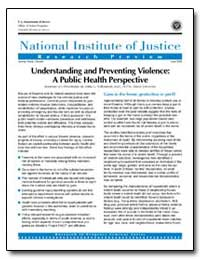 Understanding and Preventing Violence : ... by Travis, Jeremy