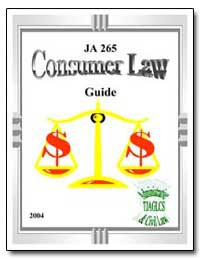 Ja 265 Consumer Law Guide by Department of Justice
