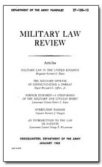 Military Law Review by Halse, Richard C.