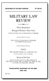 Military Law Review by Department of Justice